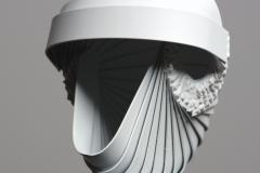 Feher gondolatmag (142x20x15 cm, hegesztett acel, 2014)