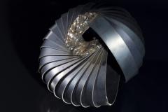 Nyersmag (18x21x19 cm, hegesztett acel, 2013)